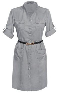 Glamour Empire Women's Mandarin Collar Combat Style Shirt Dress w/ Pockets 096 (US 4, Grey) Glamour Empire http://www.amazon.com/dp/B00JLIF746/ref=cm_sw_r_pi_dp_NaxMtb0RFZA4BN94