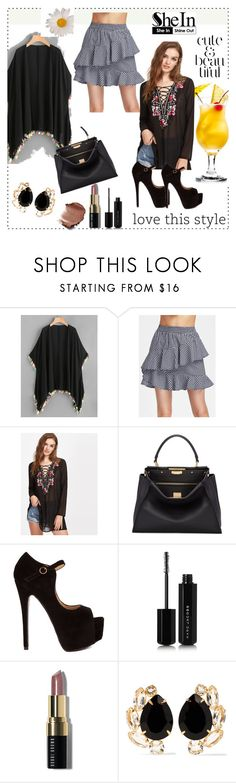"""""""Shein 10"""" by ajisa-ikanovic ❤ liked on Polyvore featuring Fendi, Marc Jacobs, Bobbi Brown Cosmetics, Bounkit and WALL"""
