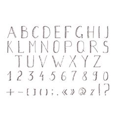 Hand drawn alphabet abc font alphabet vector letters- by saenal78 on VectorStock®