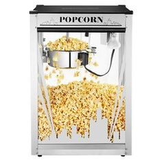 Complete your theater room with this artfully inspired pop corn machine with the Chicago sky line very cool i want it