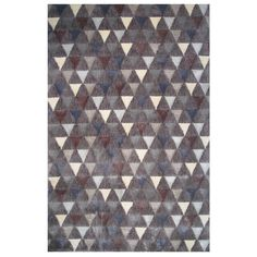 Soho Collection Boho Triangle Pattern Multicolored Rug, 8 ft. x 11 ft.