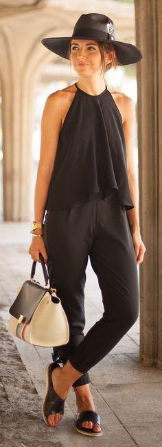 All Black -- Asos Pants + Zara Top by Lovely Pepa