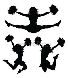 free cheer sillohette clip art black and white cheerleader clip rh pinterest com cheerleading clipart free download cheerleader clip art free