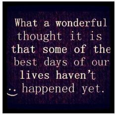 What a wonderful thought...