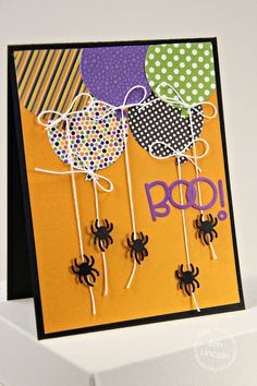 #papercraft #Card by PS DT Erin Lincoln using PS Big Balloons, Halloween Icons
