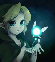 Young link and navi.