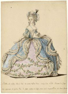 Court dress, 1785, Les Arts Decoratifs