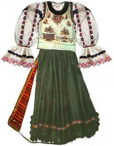 Tarnava Fata Nou Folk Costume, Costumes, Folk Clothing, Romania, Festivals, Embroidery Patterns, Skater Skirt, Textiles, Traditional
