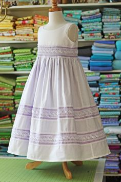 Pretty Lavender and white dress from Olabelhe. Would be so pretty for Easter