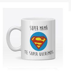 Taza Personalizada Super Mamá. Para regalar el Día de la Madre, Cumpleaños, Aniversario etc.. Visita nuestra tienda que hemos creado una línea de regalos para Mamá. Camisetas iguales, Tazas, Toallas y Cojines Personalizados. ¡VISÍTANOS!