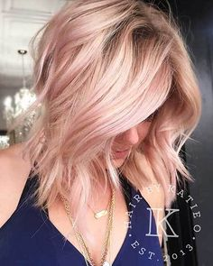 18 More Latest Short Choppy Haircuts for Textured Style : #17. Rose Gold Hair Color