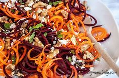 Spiralized Carrot and Beet Salad