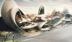 Insect-Wing-Inspired Design Wins Moscow Circus School Competition,Courtesy of Maryam Fazel and Belinda Ercan