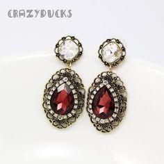 Luxury Classic Stud Earrings Gold Plated For Women Wedding Zircon Crystal Hoops AY0003760