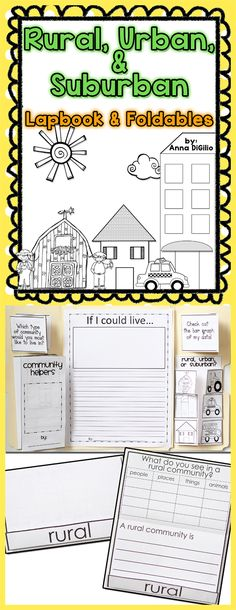 Let's get ready to learn about Rural, Urban, and Suburban Communities with this Interactive Lapbook with Flip-Flap Books. Fun and Engaging!$