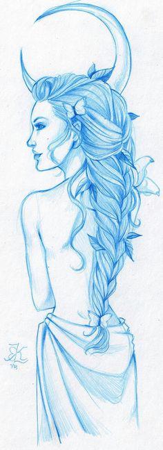 modernized gods series, Artemis Butterflies are the best hair accessories! Et Tattoo, Tattoo Drawings, Art Drawings, Artemis Tattoo, Aphrodite Tattoo, Greek Goddess Tattoo, Greek Mythology Tattoos, Gott Tattoos, Artemis Goddess