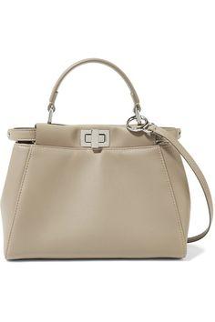 Fendi | Peekaboo mini leather shoulder bag | NET-A-PORTER.COM