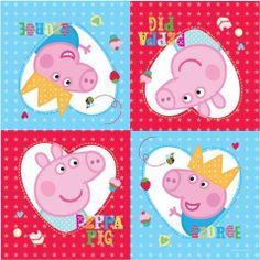New Peppa Pig Party Range - Peppa Pig Party Napkins x 16 by Gemma International