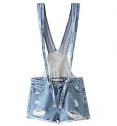 Blue Jean Shorts Overalls