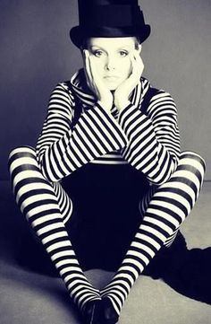 Twiggy in Stripes