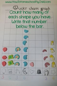 FREE St Patricks Day Activities: Lucky Charms Graph from HowToHomeschoolMyChild.com