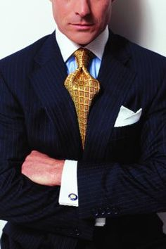 You don't need a compass to recognize that the concept of mobility is the prevailing undercurrent for spring fashion. From suits and sportswear in natural, wrinkle-resistant cloths to retro-inspire… Sharp Dressed Man, Well Dressed Men, Mens Fashion Suits, Mens Suits, Blue Shirt White Collar, Look Formal, Mens Attire, Men's Wardrobe, Suit And Tie