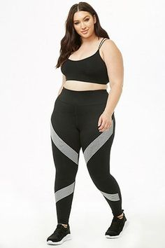 554d72ecb12c Plus Size Active Mesh Panel Leggings in 2019   Products   Fashion ...