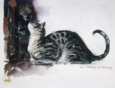 The Watchful Cat by John Alonzo Williams, 1940. Metropolitan Museum of Art