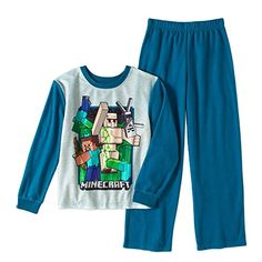 Minecraft Flannel 2 Piece Pajama Set Boys >>> Read more  at the image link.(It is Amazon affiliate link) #commentplease