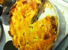 Chocolate, orange and ricotta pie