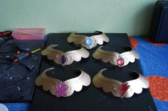 My little pony cosplay Elements of harmony necklaces by Nahmariell - Might have to remember this for later...