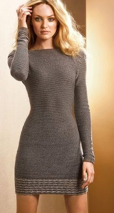 Holiday sweater dress.