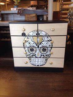 Custom Painted Sugar Skull Dresser By Jeannie! Want A Custom Painted Piece  Of Furniture?