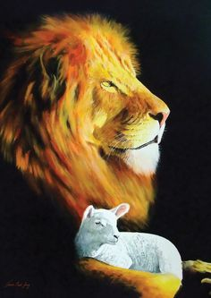 Behold, the Lion of the tribe of Judah, the Root of David, hath prevailed to open the book, and to loose the seven seals thereof.  And I beheld, and, lo, in the midst of the throne and of the four beasts, and in the midst of the elders, stood a Lamb as it had been slain (Rev. 5:5-6).