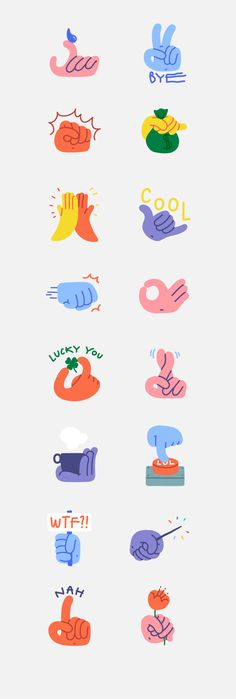 Handy Hands - Snapchat Stickers on Behance