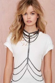 Unchained Gunmetal Body Harness   Shop Accessories at Nasty Gal