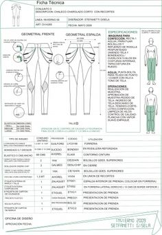 ficha tecnica de pantalon - Buscar con Google Design Brief Template, Cost Sheet, Flat Sketches, Tech Pack, Fashion Design Sketches, Fabric Manipulation, Fashion Flats, Textile Design, Pattern Fashion