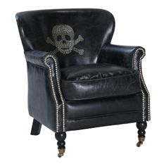 Leather skull chair - looks SO comfy!!