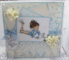 LOTV - Jasmine Laptop with Set 98 Sketchy Wishes Sentiment by Jacqui Dennis Birthday Cards For Women, Handmade Birthday Cards, Happy Birthday Cards, Card Birthday, Card Making Inspiration, Making Ideas, Teenage Girl Birthday, Scrapbooking, Pretty Cards