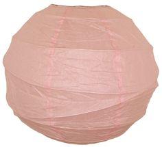 12  Criss Cross Pale Pink Paper Lantern