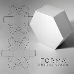 Even simple constructions can have fun twists. This hexagonal box uses a common simplex construction to pack flat and assemble without glue. Diy Gift Box, Diy Box, Jewelry Packaging, Box Packaging, Hexagon Box, Paper Box Template, Notebook Paper, Food Packaging Design, Mini Bottles