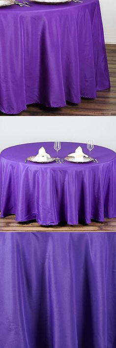 Tableware and Serveware 33161: 20 Purple 90 Round Polyester Tablecloths Wholesale Wedding Decorations Sale -> BUY IT NOW ONLY: $158.06 on eBay!