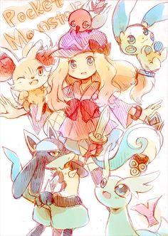 Sería un buen equipo para ella, pero a como ha avanzado el anime, no han pegado ninguno jajaja #PokémonXY #KalosQueen