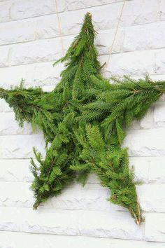 If you get a live Christmas tree and have to have the bottom trimmed, keep the branches - turn rejects into a lovely snowflake or magnificent star! Add your own embellishments for an extra wow!