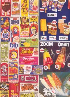 A nostalgic tribute to the ice-lollies of a UK childhood Retro Advertising, Vintage Advertisements, Vintage Ads, Vintage Posters, 1970s Childhood, My Childhood Memories, Pyrex, King T, Walls Ice Cream