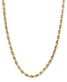 """14k Gold Necklace, 22"""" Seamless Rope"""