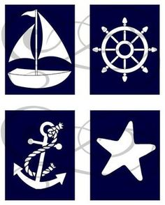 nautical nursery | Nautical Nursery Prints Set of 4 by OnceUponAPrints on Etsy, $16.00 ...