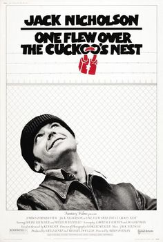 ONE FLEW OVER THE CUCKOO'S NEST [1975] When Randle Patrick McMurphy gets transferred for evaluation from a prison farm to a mental institution, he assumes it will be a less restrictive environment. But the martinet Nurse Ratched runs the psychiatric ward with an iron fist, keeping her patients cowed through abuse, medication and sessions of electroconvulsive therapy. The battle of wills between the rebellious McMurphy and the inflexible Ratched soon affects all the ward's patients.