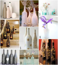 DIY - Bottle Centerpieces - Gorgeous Wedding Decorations that you can design and put together yourself!