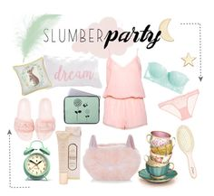"""""""pastel dreams"""" by lugubria ❤ liked on Polyvore featuring Gemma Crus, Puma, Newgate, Boux Avenue, New Look, L'Agent By Agent Provocateur, Heidi Klum Intimates, L. Erickson and slumberparty"""